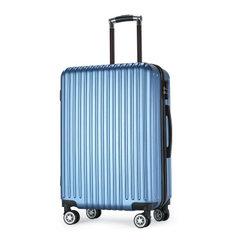 复古箱子行李箱22寸铝框拉杆包26寸女士大容量旅行箱24寸万向轮20 蓝色拉链款 20寸