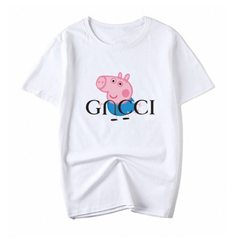 Piggy parkie social man parents pack short sleeves T-shirt trembling, pure cotton loose couple TEE George S