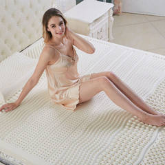 Customized and wholesale natural latex mattress si Massage + inside and outside cover AA 180 * 200 * 10