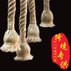复古麻绳灯卧室用装饰灯麻绳吊灯个性餐厅麻绳编制灯装饰麻绳灯 灯口E27