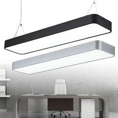 Simple LED office chandelier garage supermarket of Black border