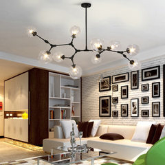 Nordic post-modern simple chandelier glass ball li 5 head