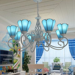 Factory direct sale wholesale tiffany Mediterranea Six blue chandeliers