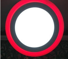 工厂直销 LED分段双色面板灯 暗装多色彩灯 3+3W服装店娱乐场筒灯 3+3W