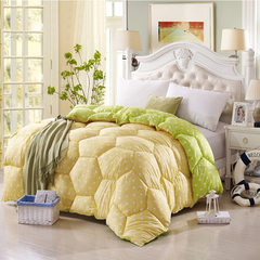 New wave point quilt by core thickening super soft Fruit-green m 150x200 [4kg]