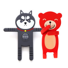 Mobile phone bracket universal clasp cute cartoon  The updated cuddle bear is black