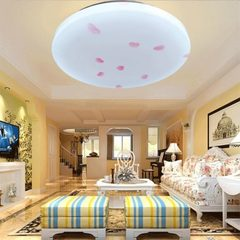 Wholesale modern simple LED ceiling lamp round bed Red leaves