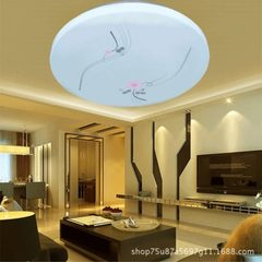 Circular LED ceiling lamp bedroom living room lamp Powder narcissus