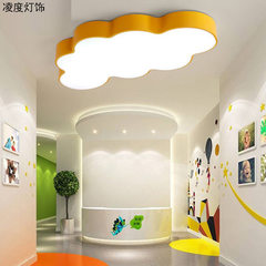 New led cloud cartoon ceiling lamp creative decora 50 * 30 * 8 cm - white light