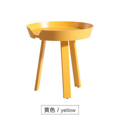 Nordic tea table furniture white wax wood designer yellow 72 * 37.5 CM long