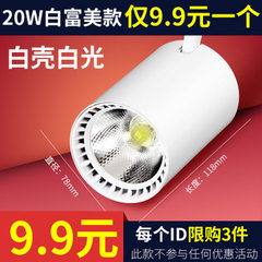 Track lamp clothing store lamp led track lamp cob  10 w white shell