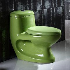 厂家直销彩色坐便器直冲式大口径抽水马桶酒店工程卫浴洁具批发 300坑距-绿色