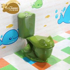 200坑距马桶坐式马桶幼儿园儿童陶瓷马桶彩色坐便器陶瓷地排马桶 马桶