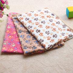 宠物用品毛毯 厂家现货  狗窝垫 批发狗狗毯子秋冬保暖毯子珊瑚绒 粉色爪印 20*20CM