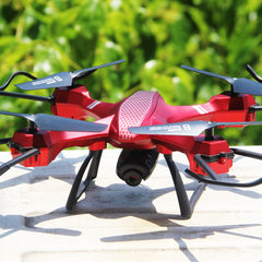 Intelligent high - altitude uav aerial photography Plain red