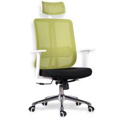 网布电脑家用办公椅时尚升降网椅职员经理主管椅子加高靠背739-A 黑框-黑背