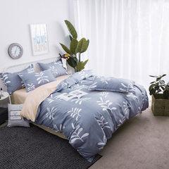 图腾纺织厂家直销天鹅绒四件套 加厚磨毛被套学生公寓床上用品 1.0m床