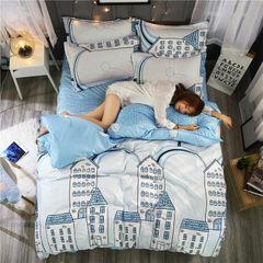 床上用品 礼品四件套芦荟棉学生宿舍三件套床单被套一件代发厂家 1.2米床(三件套)