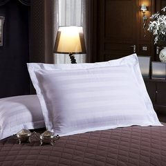 Hotel hospital white pillowcase full cotton teryle 60 * 90
