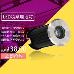 不锈钢水池灯LED水下地埋灯1W广场公园小区喷泉埋地灯厂家直销 3000K-6500K