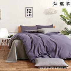 厂家直销床上用品磨毛素色双拼纯色仿纯棉三四件套1.5/1.8m床学生 1.0床三件套