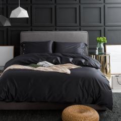 60 pure cotton satin satin satin pure color set of 1.2 meter bed three-piece set