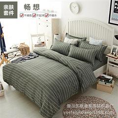 印花被套床笠四件套 1.8m床垫保护套床上用品厂家批发量大可定做 1.2米床笠三件套
