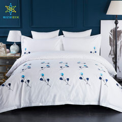 Five-star hotel bedding four-piece set of pure cot 1.5m bed set of four pieces