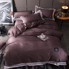 40 pieces of pure color four-piece bedding set wit 200 * 230