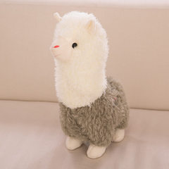 Factory direct sale multi - color alpaca doll love Green alpaca 28 cm