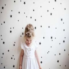 Five-pointed star cartoon children room wall stick Gold 3-5 cm * 39 PCS