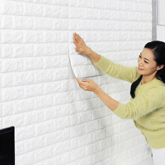 3D solid wall sticking from viscose foam brick liv Thickening of rice white