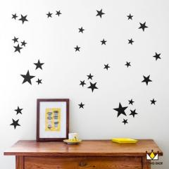 Extremely simple wind star creative combination PV black