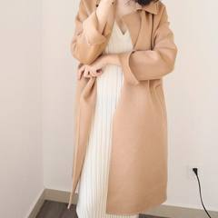 Long Korean version loose high-end woolen windbreaker in the new cashmere overcoat of 2018