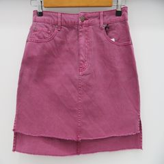 Best-selling foreign trade original single lady pure Jean half-length skirt, buttock skirt Purplish red Twenty-four