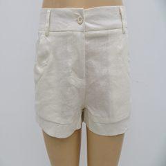 Women's Semi-transparent Large Pocket Shorts, Zipper Ultra-thin Pure Hot Pants Rose red L