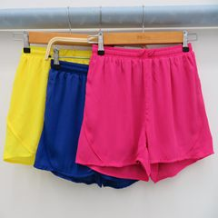 Ladies'pure double chiffon skirt pants and ladies' waistband hot pants blue S