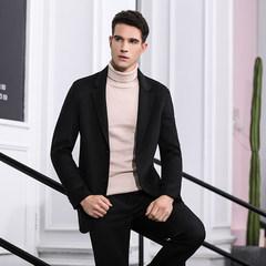 男士新款手工缝制羊绒毛呢大衣休闲时尚保暖加厚款