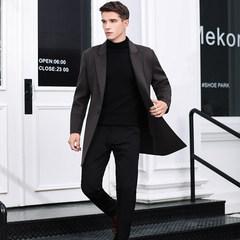 2018冬款保暖加厚手工缝制羊绒大衣时尚修身款