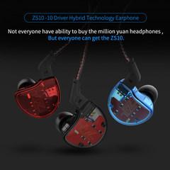KZ ZS10 Earphone Input Ten-cell Ring Iron Headset HIFI Fever Bass Bluetooth Headset