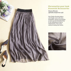 High-end boutique women's summer pure silk half-length skirt new skirt slim, tight waist skirt