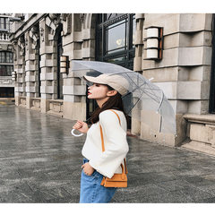 【朵维思】2018秋冬女装韩版喇叭袖毛衣女百搭宽松针织衫F5190 杏色 均码