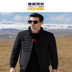 雅鹿羽绒服男士短款修身立领2018冬季新款青年时尚加厚潮流外套男
