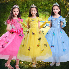 Halloween children's clothes, Cinderella Sophie, Abelian princess dress, girls Cosplay role playing clothes