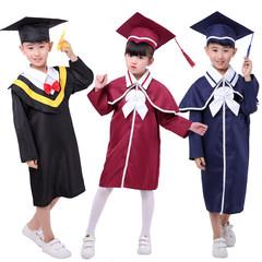 儿童博士服小学生幼儿园博士服男女学士服演出表演服毕业礼服
