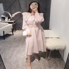 韩货连衣裙 粉色 均码