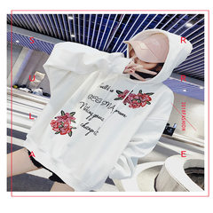 Korean version of the new embroidered cap jacket for women wearing fashion jacket for women in autumn and winter 2018 white S
