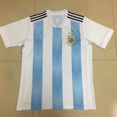 2018 World cup Argentina National Team Sublimation white S
