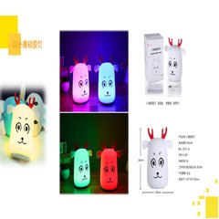 Small night light creative deer, silicone pat lamp, decompression lamp, feeding lamp, silica gel lamp atmosphere, USB new strange lights.