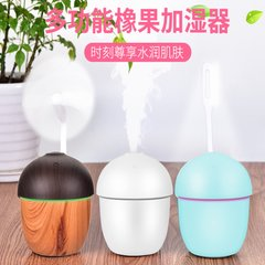 Creative Gift Customized Wooden Mini Acorn Humidifier Desktop Small USB Night Lamp Multifunctional Trinity Touch One Key Switch